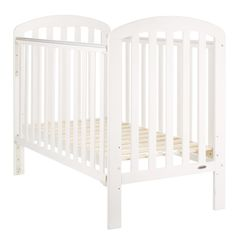 Obaby Lily Cot-White (New 2015)  Description: This OBaby cot would be a great addition to any nursery, with its simplistic look and fantastic practicality. It features a single drop down side, ensuring you have easy access to your little one, a protective teething rail and a three position base height, so the cot can be altered...   http://simplybaby.org.uk/obaby-lily-cot-white-new-2015/