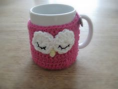 Owl Cup Cozy ~ pattern $1.99