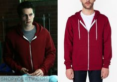 Stiles Stilinski (Dylan O'Brien) wears this red zip hoodie in this week's episode of Teen Wolf. It is theAmerican ApparelFlex Fleece Zip [...]