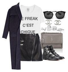 """""""*"""" by fashio-188 ❤ liked on Polyvore featuring Zoe Karssen, Prada, Yves Saint Laurent, GUESS, rag & bone, Givenchy, E L L E R Y and Chanel"""