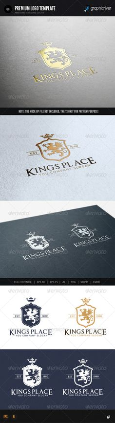 Kings Place II by LayerSky This logo design for all creative business. Consulting, Excellent logo,simple and unique concept. Logo Template FeaturesAI and EPS