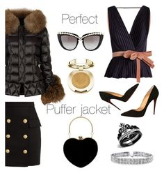"""""""Perfect Puffer Jackets"""" by nicolevalents ❤ liked on Polyvore featuring Holland Cooper, Balmain, Roksanda, Christian Louboutin, Bling Jewelry, Anna-Karin Karlsson and Milani"""