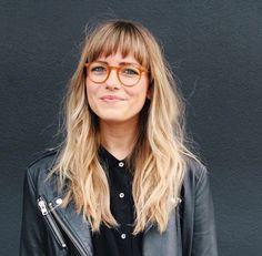 Bangs # Modus # Mode # Stil # Inspiration – New Site – Best Hair Style Models Blond Pony, Hair Inspo, Hair Inspiration, Fashion Inspiration, Bangs And Glasses, Glasses Style, Glasses For Long Faces, Long Hair With Bangs, Long Hair Fringe