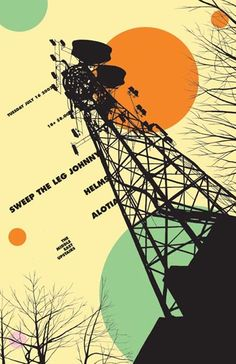 tv tower retro graphic