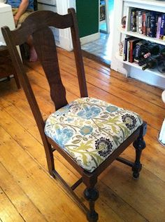 reupholstered chair. sweet william!