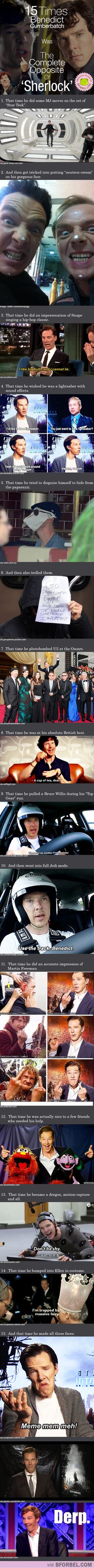 15 Times Benedict Cumberbatch Was The Complete Opposite Of 'Sherlock'…