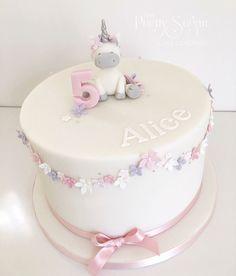 Pretty pinks unicorn birthday cake