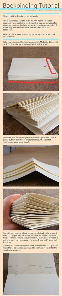 Bookbinding Tutorial - Imgur - Follow the link for the whole tutorial