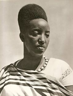 Queen Dowager Rosalie Gicanda of Rwanda.  She was kidnapped and murdered in 1994, near the beginning of the Rwandan Genocide.