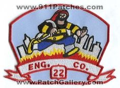 New York City Fire Department Engine 22 Rescue EMS Company Station Patch New Yor