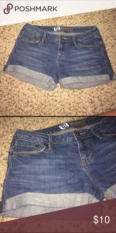 Cuffed blue jeans shorts Cuffed blue jean shorts in good condition. Shorts Jean Shorts