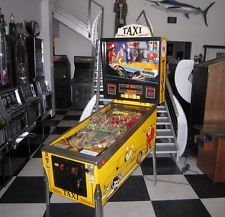 TAXI PINBALL MACHINE ~ CLASSIC WILLIAMS GAME ~ SHOPPED ~ NEW LED DISPLAY