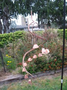 How to Make DIY Copper Wind Chime by DIY Ready at  http://diyready.com/32-diy-wind-chimes/