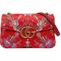 Gucci Women Medium Gg Marmont 2.0 Tokyo Print Bag (85.575 RUB) ❤ liked on Polyvore featuring bags, handbags, clutches, gucci, red, snap purse, pattern purse, snap bag, gucci handbags and red purse