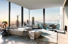 home design dream Luxury Penthouse, Luxury Apartments, Luxury Homes, New York Penthouse, Australian Interior Design, Home Interior Design, Interior Decorating, Dream Apartment, Apartment Interior