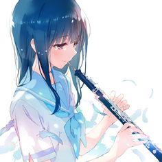 Mizore Yoroizuka [Liz to Aoi Tori] Anime Chibi, Kawaii Anime, Manga Anime, Anime Play, Moe Manga, Loli Kawaii, Kawaii Girl, Manga Art, Anime School Girl