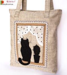 Katze und Kaktus von Patatuyki auf DaWanda.com