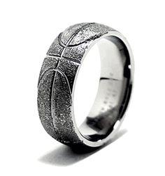 basketball ring sports wedding rings titanium buzzcom - Sports Wedding Rings