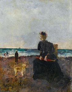 This late period (by effort by Belgian painter Alfred Stevens reflects the change of style he underwent in his later years, from highly polished realism to a looser and more impressionistic approach. Alfred Stevens, Thomas Couture, David Kroll, James Ensor, Brad Kunkle, Kim English, Rene Magritte, Caravaggio, French Artists