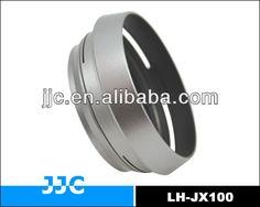 JJC LH-JX100 Silver Lens Hood For Fujifilm LH-X100 with a 49mm lens Adapter Ring AR-X100 for Fuji Finepix X100 X100S Camera #Fuji_X100, #silver