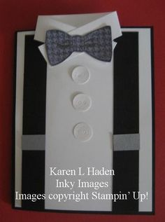 Inky Images: Dapper Bow Tie Card