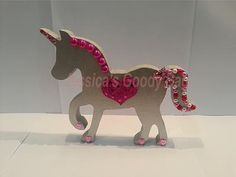 Striking freestanding MDF unicorn, handpainted and decorated as per your chosen colour scheme. Mdf Letters, Egg Holder, Create Your Own Website, Party Themes, Party Ideas, Goodie Bags, Unicorn Party, Color Schemes, Personalized Gifts