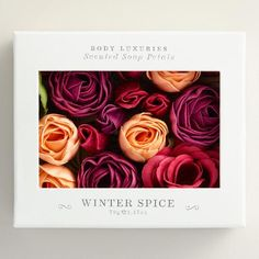 One of my favorite discoveries at WorldMarket.com: Winter Spice Soap Petals