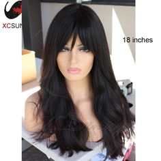 Cheap wig white, Buy Quality wig companies directly from China wig costume Suppliers: 2016 New Fashion Sexy Brazilian Virgin Human Hair Glueless Lace Front Wigs Natural Wave Full Lace Human Hair Wig With Bangs Long Hair With Bangs, Wigs With Bangs, Hairstyles With Bangs, Human Hair Lace Wigs, Human Hair Wigs, Wholesale Wigs, Wig Companies, Full Lace Front Wigs, Buy Wigs