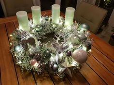 Christmas Wreaths, Advent Wreaths, Xmas, Magical Christmas, Projects To Try, Holiday Decor, Crafts, Taper Candles, Noel
