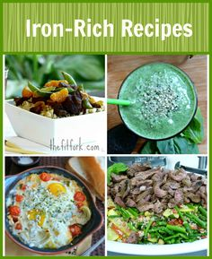 Iron Rich Recipes for Runners, Athletes, Pregnant Women and Everyone! Quick and healthy recipes from thefitfork.com