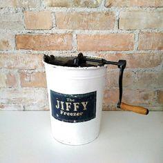 Antique Ice Cream Maker Jiffy Freezer by NoVeto on Etsy