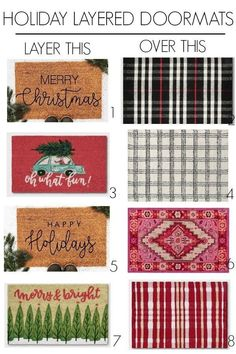 Holiday Front Porch - at home with Ashley Christmas Front Doors, Christmas Porch, Winter Christmas, Christmas Decorations, Xmas, Front Door Rugs, Front Door Porch, Front Door Decor, Succulent Garden Diy Indoor