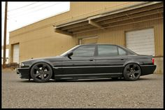 Black on black stanced e38