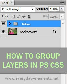How to group layers in Photoshop CS5 via @amandapadgett