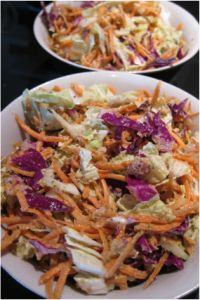 Spicy Asian Slaw {Raw} - From @The Wellness Warung