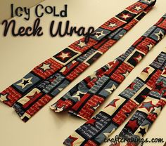 Icy cold neck wrap tutorial. Craft cravings. Keep cool this summer! Perfect for adults and kids too! #sewing #coolties #neckwraps