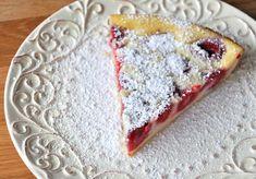 Crustless Raspberry Custard Pie
