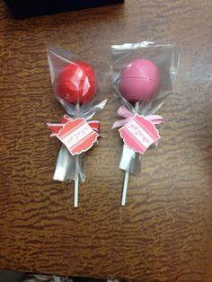 Eos lip balm lollipops -November 2013 OMG, cutest gift ever