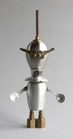 Sifty 1 - found object robot assemblage sculpture by brian Marshall | by adopt-a-bot