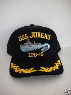 c2a4ee69be6 captain navy ship command ball cap officer USS JUNEAU LPD-10 ball cap hat  USA