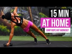 15 MIN AT HOME FULL BODY JUMP ROPE HIIT WORKOUT - YouTube