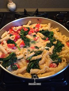 Easy to make. Steamed the fresh spinach, quartered the cherry tomatoes. Used half a block of jalapeño Monterey Jack and cooked pasta in broth then combined www.dracaenawines.com