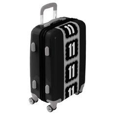 Rounded Square Number Monogram - Eight Luggage - monogrammed gifts monogram style diy special personalize Cheap Luggage, Large Luggage, Custom Luggage, Personalized Luggage, Luggage Suitcase, Carry On Luggage, Referral Cards, Monogram Styles, Monogram Gifts