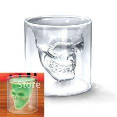 Barato Fresco Crystal Skull cabeça Vodka Shot Glass vinho beber Ware Home Bar 2.5 onças #12563, Compro Qualidade   diretamente de fornecedores da China:             Crânio fresco cabeça de cristal Vodka Copo de Vinho Beber Ware Home                            Bar 2,5 onças