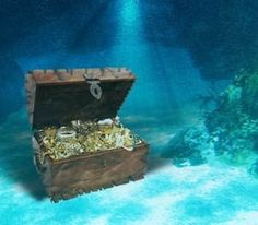 images treasure chest in water open treasure chest with bright
