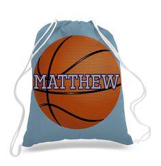 Personalized Basketball design - Kids drawstring bags, gym bags, backpacks, , swimbag, sports bag by 5MonkeysDesigns on Etsy