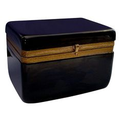 Big Beautiful Box with Fancy Mounts. Large Rectangular Shape with Round Corners.A BEAUTY!