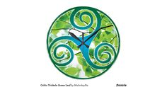 This beautiful green leafed Celtic triskele will look great on any of the gifts and apparel. Perfect for your Irish loving and pagan friends and family.