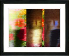 Poppies and Carrots - Red by Zhee Singer Framed Fine Art Giclee Painting Print