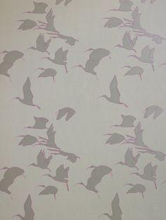 Ibis Wallpaper|Taupe|Turner Pocock Cazalet